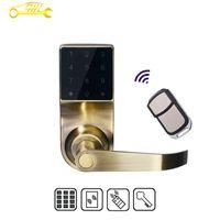 digital door lock - 2016 New Zinc Alloy Electrical Smart Digital Code Door Lock With Remote Control RFID Card Unlock For Free Shiping