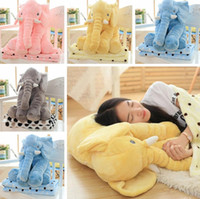 Wholesale Pillow Blanket Set Elephant Soft Plush Pillow Blankets Animal Stuffed Dolls Toys Cartoon Sofa Bedding Throw Pillow Cushion Color LJJP321