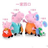 venda por atacado peppa pig toys-Porco bonito brinquedos de pelúcia Porcos Dolls 30CM caricatura de brinquedo de pelúcia Peppa Bichos de pelúcia Plush Toys Frete grátis 10PCS presente de aniversário