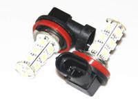 achat en gros de h11 a mené la lumière de la tête-Hot Sales Nouveau 2x H11 18 LED 5050 SMD voiture jour Fog tête lampe ampoule Xenon blanc jaune rouge