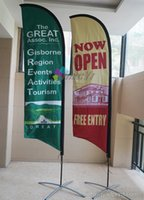 Wholesale 4 m Beach Flag with Custom printing with to USA Feather flag Feather Banner