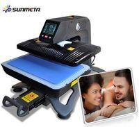 Cheap ST-420 Sunmeta Auto-Pneumatic 3D Sublimation Press Machine , newest T-shirt printing heat press machine 26*38cm,220V