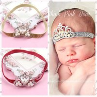baby powder hair - Pearl hair color green crown of children in Europe and America with gold powder with shiny new hot baby crown headdress