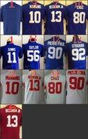 beckham boy - Youth NIK Game Football Stitched Giants Blank Manning Simms Beckham Jr Taylor Red White Blue Jerseys Mix Order
