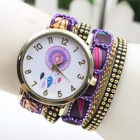 Wholesale 2016 new hot Classic explosion paragraph Bohemian style ladies quartz watch bracelet table Fashion bracelets watch