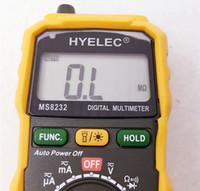 Wholesale 10pcs By DHL fedex MS8232 Mini digital Multimeter Auto power off DC AC Voltage Current Tester Ammeter