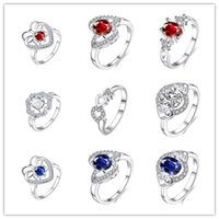 austrian clothes - 2016 women s fashion jewelry Austrian crystal ring with silver beautiful birthday gift Clothing accessories top quality