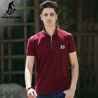 Wholesale Pioneer Camp New Fashion Mens Polo Shirt Mens Cotton Solid Polo Shirts Casual Simple Style Shirt For Men Poloshirt Clothing