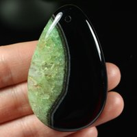Bastante cuentas Colgante gota de agua en forma de lágrima Greenblack Druzy Geode Onyx por un collar A05