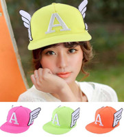 angels snapback - New lovely women girl angel wing Hip Hop Snapback Baseball Caps basketball Hats girl Sports Casual headware hunting hat