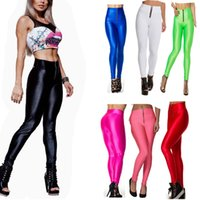 Wholesale New Candy Solid Neon yoga Leggings for women sports Gym High Waisted Running leggings Zipper Strech Fitness Clothing Plus Size