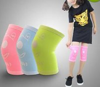 Cheap Aolikes Kids sport knee pad nylon elastic breathable safety sleeve knee support brace protector skating cycling basketball volleyball dance