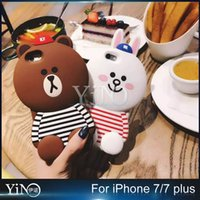 apple bears - 3D cartoon little brown bear Silicon Case For iphone s Plus Plus back cover designed