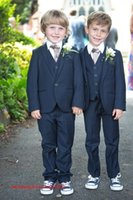 Wholesale new Custom make Boys Party Dresses Boy Tuxedos One Button Formal Boys Suits for Prom Wedding handsome new design