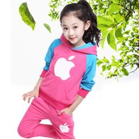 apple hoodies - Boutique apple pattern Spring models of child sports suit hoodie pants suit British boys and girls children s clothing