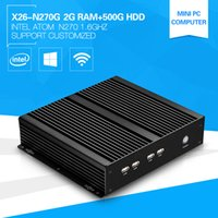 atom fanless - Cheapest Mini Computers Stick Atom Single Core N270 GHz Windows PC with USB RS232 Build in Wifi G Ram G HDD Fanless