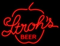 apple store lighting - Stroh s Apple Beer Neon Sign Custom Real Glass Tuble Light Beer Bar Disco KTV Club PUB Display Store Advertisement Sign quot x24 quot