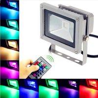 Wholesale 50Pcs W RGB Outdoor Lighting Floodlights Waterproof IP65 RGB Warm Cool White LED Wash Floodlight Outdoor Lamp AC85V V Free DHL