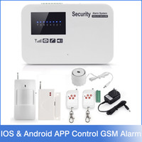 alarm relay - 2016 NEW IOS Android APP Control Intercom Wireless GSM Alarm System Security Home Kit With Relay English Russian Language