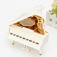 alice music - 2016 New White Gold Piano Music Box Classical Day Gift Boutique with Dancing Girl Song to Alice Mechanical Dancing Ballerina