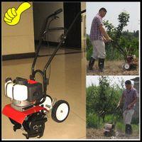 Wholesale Professional garden tools cc mini gasoline Tiller Garden mini Cultivator petgasoline hand push walking garden rotary tiller machine