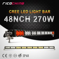 Wholesale 1pc inch w CREE LED Work Lamp Light Bar Single Row Amber White Combo Beam Off road Car Truck Boat Light