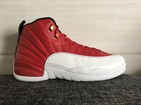 shoes dropship - dropship new original quality retro XII Gym Red With Real Carbon Fibber Men Basketball Sport Shoes Size ship With box