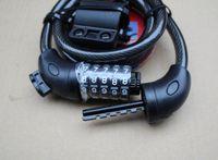 Wholesale Universal lock TY566 combination lock bicycle lock Mountain bike lock wire anti theft lock bar