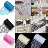Wholesale 2 Tulle Roll Spool Lace Roll quot x Yards Vintage Lace Roll FabricTable Runner Chair Sash Tutu Skirt Wedding Party Decorations