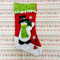 best christmas decor - Newest Best Selling Christmas Santa Stockings Christmas Decoration Children Gifts Bags Candy Bags Christmas Tree Decor