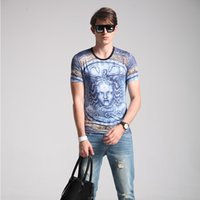 Wholesale In the summer of male new leisure men s short sleeve T shirt trade trend of printing