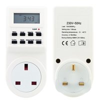 Wholesale Digital LCD Electronic Plug in Programmable Timer Hour Switch Socket with Clock Summer Time Random Function EU UK Plug