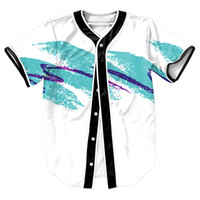Casual Shirts baseball cup sizes - paper cup Jersey with buttons Summer Style Men s Clothing Hip Hop d overshirt baseball shirt boys Tees plus size