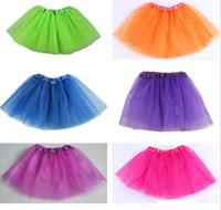 Wholesale Girl Candy Color Kids Ballet Skirt layers Ball Gown Cake Skirts Tutu Pettiskirt Net Yarn Sequins Dancing Tutu Skirts