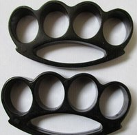 Wholesale 1 black Self defense STEEL BRASS KNUCKLES KNUCKLE DUSTER Alloy