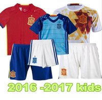 Wholesale 2016 Spain kids Jersey Espana ninos Camiseta de Futbol eurocopa FABREGAS ISCO DIEGO COSTA MORATA Youth Football Uniforms