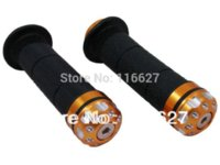 Wholesale 7 quot Handlebar CNC End Cap Rubber Hand Grips for Suzuki GSXR Hayabusa GSX1300R VStrom ABS M53517