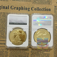 american coin collecting - 1PCS Oz Gold Plated American Liberty Eagle Souvenir Round Coins Collecting in PCCB Case