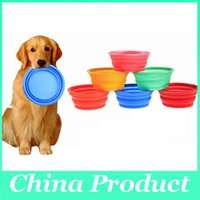Wholesale Pet Silicone Bowl Folding Portable Pets Dog Cat Bowls Food Drinking Water Bowl Dish Pet Products