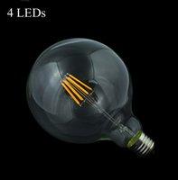 big clear umbrella - Led Filament Bulb G125 G95 G80 Big light bulb W W W filament led bulb E27 clear glass indoor lighting lamp AC220V