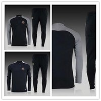 Wholesale NEW paris PSG tracksuits survetement football clothes soccer long sleeves tight pants sportswear PSG winter training suit free shi