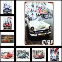 Wholesale Metal Tin Sign Vintage Style Wall Ornament Coffee Bar Decor X30cm X11 in