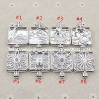 aroma mix - Mixed Square Locket Love Mom Celestial Moon Star Locket for Aroma Essential Oil Diffuser Necklace Making