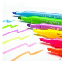 Wholesale hot sale Korea Stationery Colors Highlighter Fluorescent Liquid Chalk Marker Pen for LED Writing Board