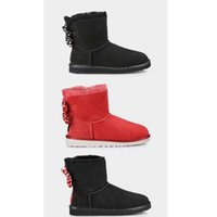 Wholesale Drop Shipping Womens SWEETIE BOW Snow Boots Winter Boots