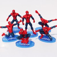 amazing spiderman set - 2016 Amazing Spider Man kids toy ormanent superhero Spiderman model styles per set doll toy doll ornaments