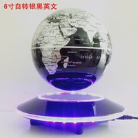 Wholesale Magnetic Suspension Globe Commercial Office Decoration Creative Gift Silver Black English
