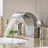 bathroom wash basin designs - Chrome Polished Unique Spout Design Wash Basin Shower Faucet for Bathroom Deck Mounted