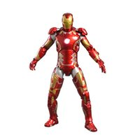 Wholesale 1 Scale Inches Custom Made Action Figure Collectible PVC Figure With LED Light Avenger Toys Iron Man