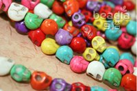 Wholesale DHL Hot Free Shiping New Fashion Mixed Skull Beads Turquoise Gemstone Loose Beads Fit For Bracelet Necklace jy773